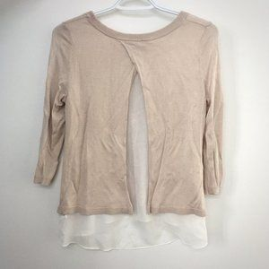 H&M Beige Split Back Layer Top